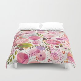 Pink Bubble for a Happy Spring Duvet Cover
