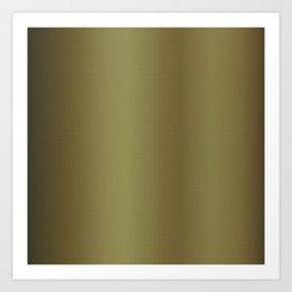 Gold Bright Metallic Carbon Fiber Pattern Art Print