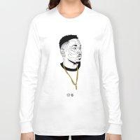 kendrick lamar Long Sleeve T-shirts featuring Kendrick Lamar by Timothy McAuliffe