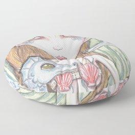 Mermaid and seahorse Floor Pillow