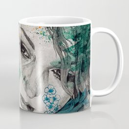 Cleopatra's Sling (flower tattoo lady portrait drawing) Coffee Mug