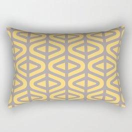 Mid Century Modern Split Triangle Pattern Gray and Yellow 2 Rectangular Pillow