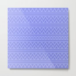Pale Blue Aztec Style Metal Print