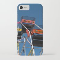 ferris wheel iPhone & iPod Cases featuring Ferris Wheel by Steve Purnell