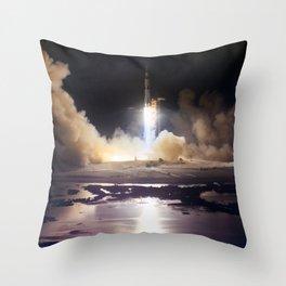 Apollo 17 - Night Launch Throw Pillow