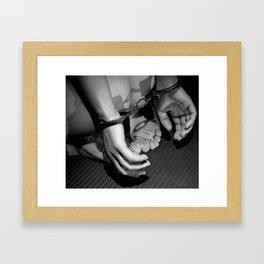 Handcuffed Framed Art Print