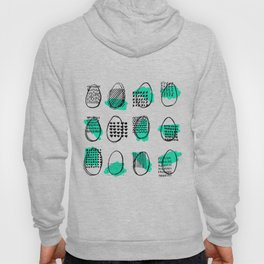 Seamless pattern with eggs. Happy easter. Abstract ellipse pattern. Hoody