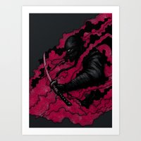 ninja Art Prints featuring Ninja by Pigboom Art