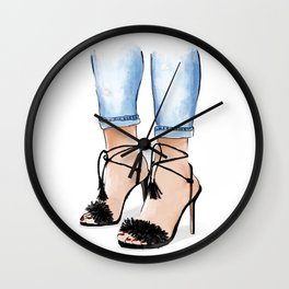 Shoe love Wall Clock