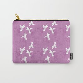 Humming Bird Pink Carry-All Pouch