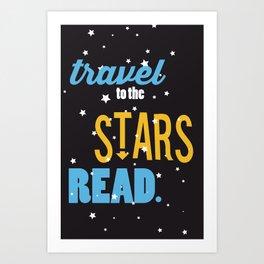 Stars - Just Read Art Print