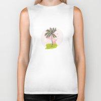 palm tree Biker Tanks featuring Palm Tree by Meike Teichmann