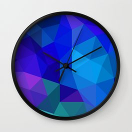 Sapphire Low Poly Wall Clock