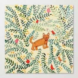 minou jaune (this yellow cat) Canvas Print
