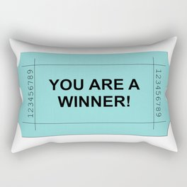 Ticket Green Rectangular Pillow