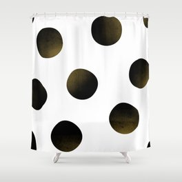 Dusted Black Polka Shower Curtain