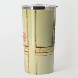 Green Locked Mailboxes Travel Mug