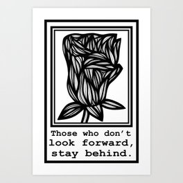 Bruh Flowers Black and White Art Print