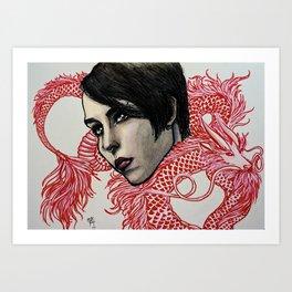 Dragon Tattoo Art Print