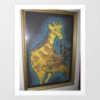 Kingly Lion Art Print