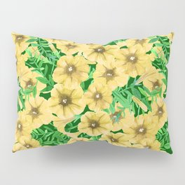 Yellow watercolor petunia flower pattern Pillow Sham