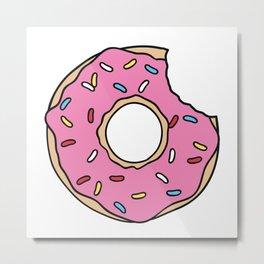Pink Donut Metal Print