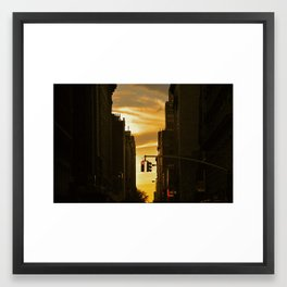 Sundown on Manhattan Framed Art Print