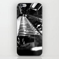 piano iPhone & iPod Skins featuring Piano by Claire Filz