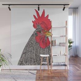 Serious Chicken Wall Mural