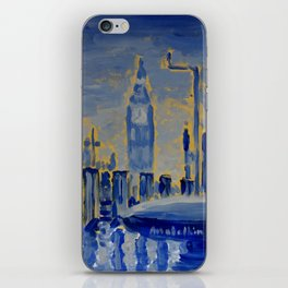 Silent Big Blue iPhone Skin