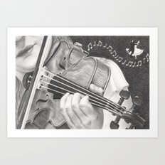 The Note Waltz Art Print