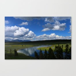 Meadow With Yellowstone River Canvas Print