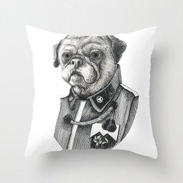 Mr. Pug Throw Pillow