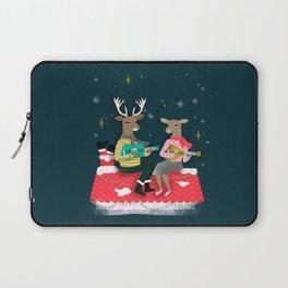 Reindeer Christmas Carols by Andrea Lauren  Laptop Sleeve