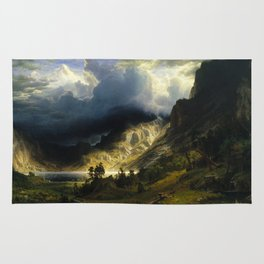Albert Bierstadt - A Storm in the Rocky Mountains, Mt. Rosalie Rug