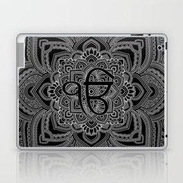 Black and white Ek Onkar / Ik Onkar  in mandala Laptop & iPad Skin