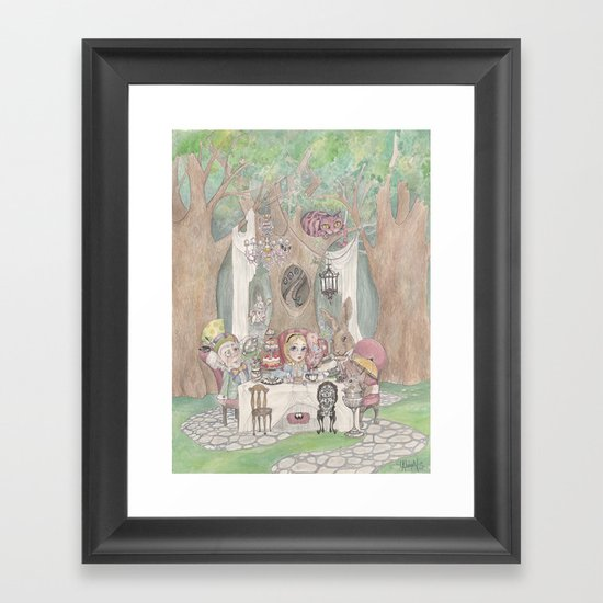 The Tea Party  Framed Art Print