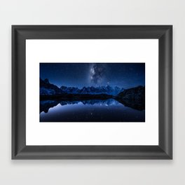 Night mountains Framed Art Print