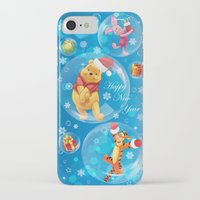 tigger iPhone & iPod Cases featuring New Year Card by Veronika