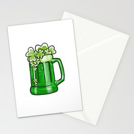 Flying Shamrocks Beer St Patrick's Drunk Day Stationery Cards