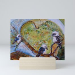 Kookaburra Family Mini Art Print