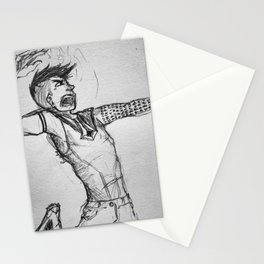 Hugin fighting with magic Stationery Cards