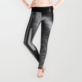 From Here to Eternity; the Road up Ahead of You black and white photography - photographs Leggings