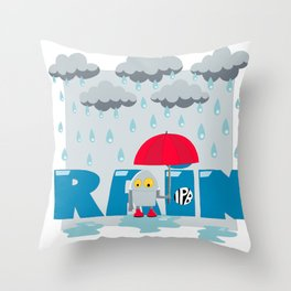 Rain! Throw Pillow