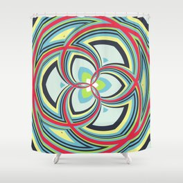 Spiral Rose Pattern A 3/4 Shower Curtain