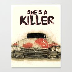 She's a Killer - 1957 Plymouth Fury Canvas Print