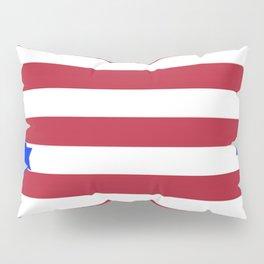 PATRIOTIC JULY 4TH  RED STARS DECORATIVE DESIGN Pillow Sham