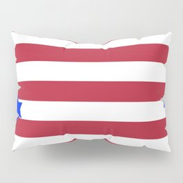 PATRIOTIC JULY 4TH  RED STARS DECORATIVE DESIGN Pillow Sham