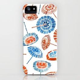 Japanese Sun Umbrella Pattern iPhone Case