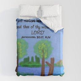 Jeremiah 30:17, KJV Duvet Cover